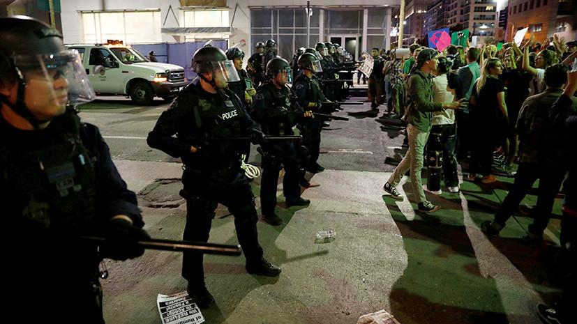 Протесты в США закончились разгоном протестующих