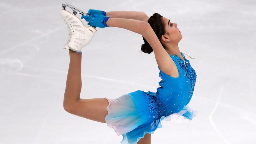 На льду в Париже: Медведева упала, но выиграла этап Гран-при по фигурному катанию