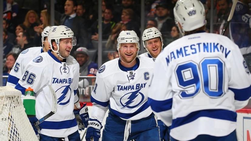 Впереди Овечкина: Кучеров забил и продолжил удерживать лидерство в гонке бомбардиров НХЛ
