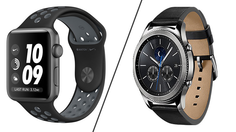 Часы с «умом»: Apple Watch series 2 против Samsung Gear S3