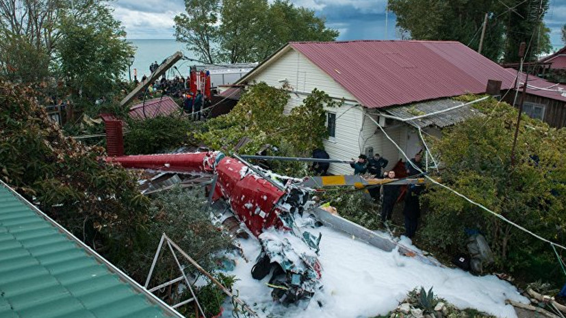 В Сочи расследуют обстоятельства крушения вертолёта