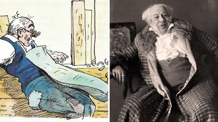 Иллюстрация Аминадава Каневского к сказке Алексея Толстого и портрет Константина Станиславского