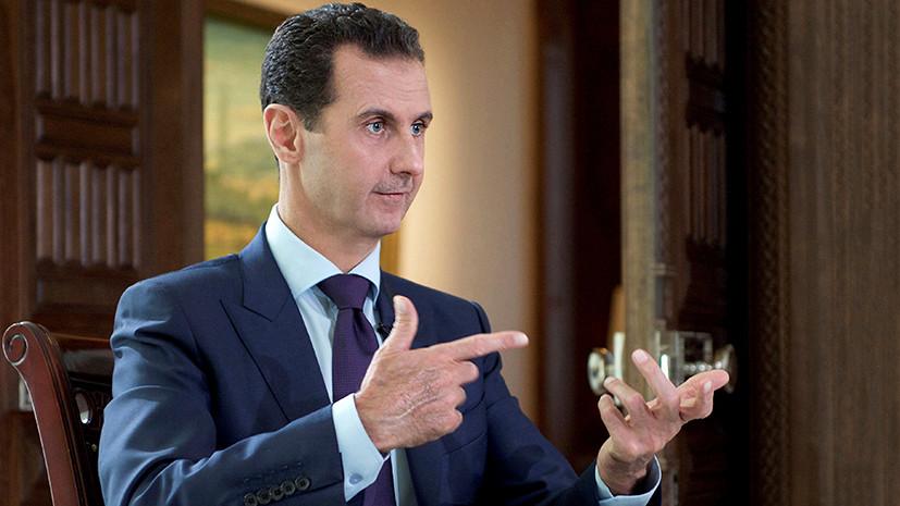 «Мировая война против Сирии»: Асад дал интервью The Sunday Times