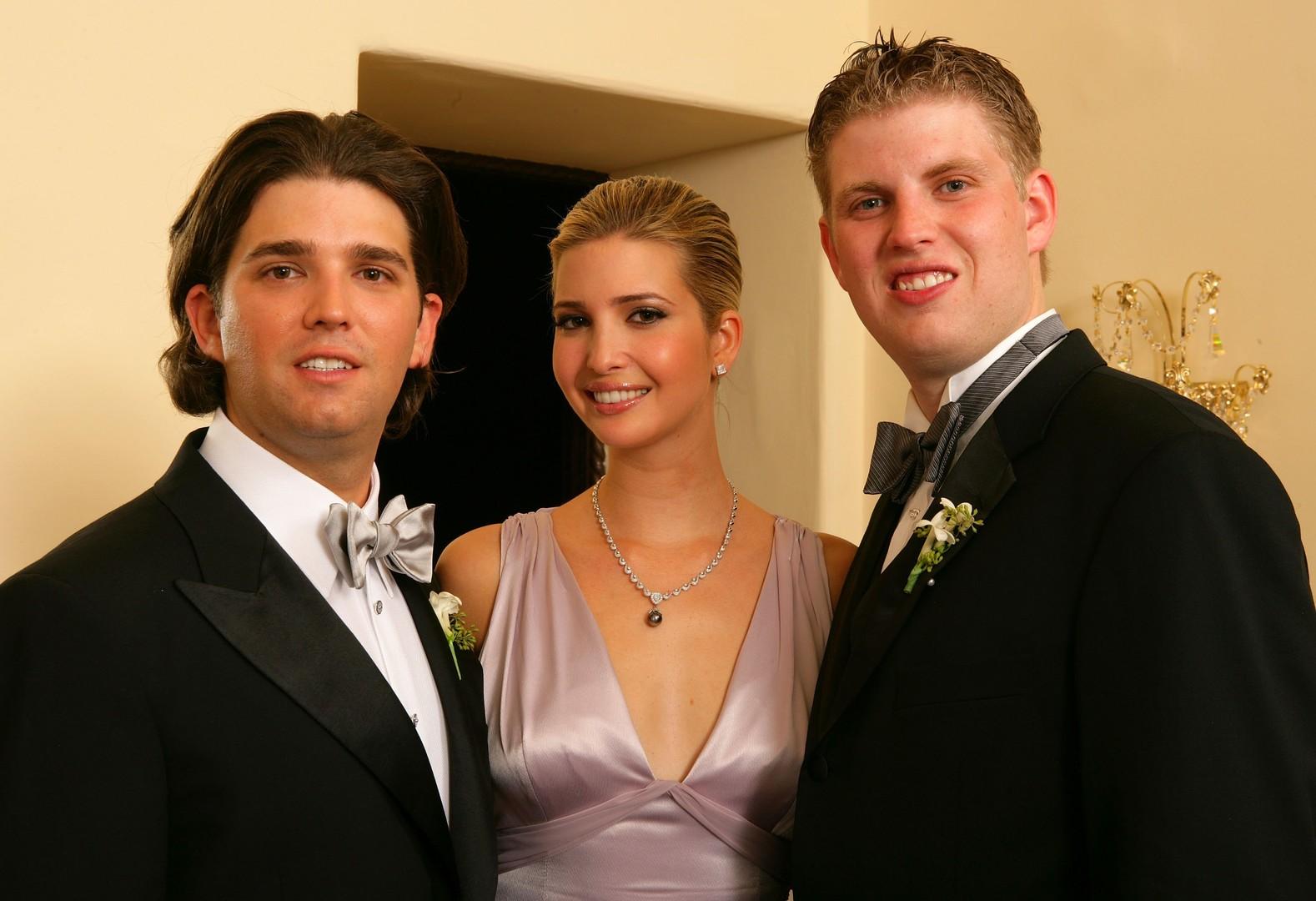 Дональд-младший, Иванка и Эрик Трамп.