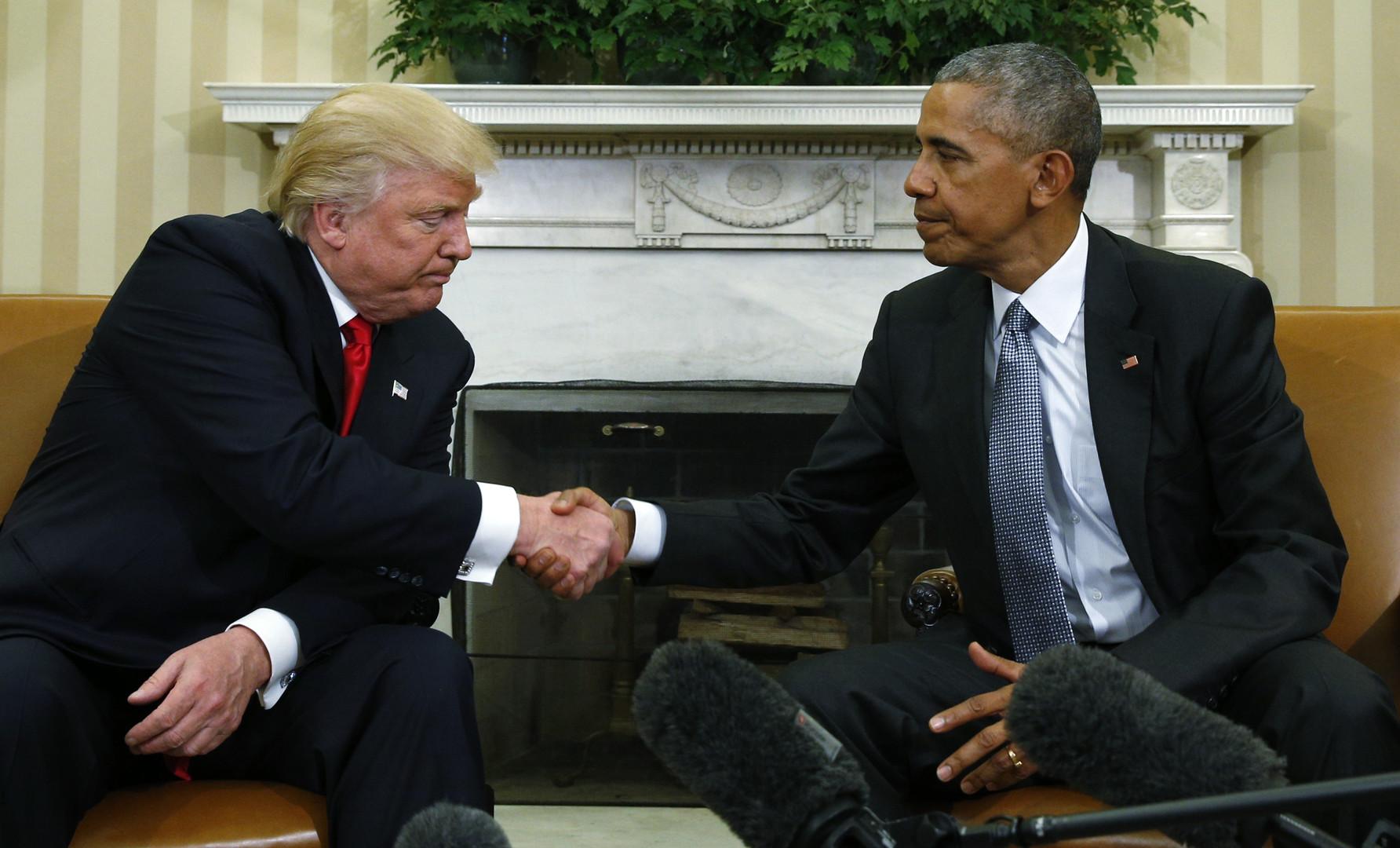 «Очень хороший человек»: в Белом доме прошла встреча Трампа и Обамы