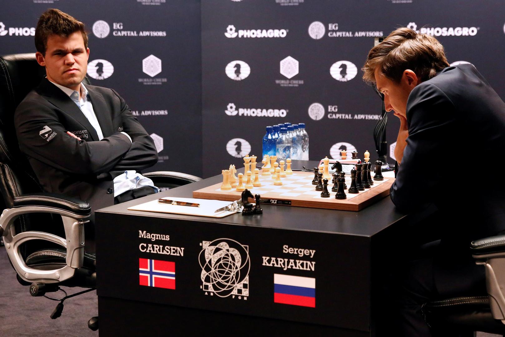 Мирное начало: Карякин и Карлсен не выявили победителя в первой партии за шахматную корону