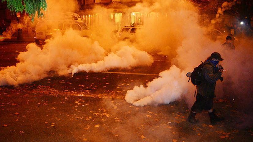 Третий день беспорядков в США: стрельба, погромы и слезоточивый газ