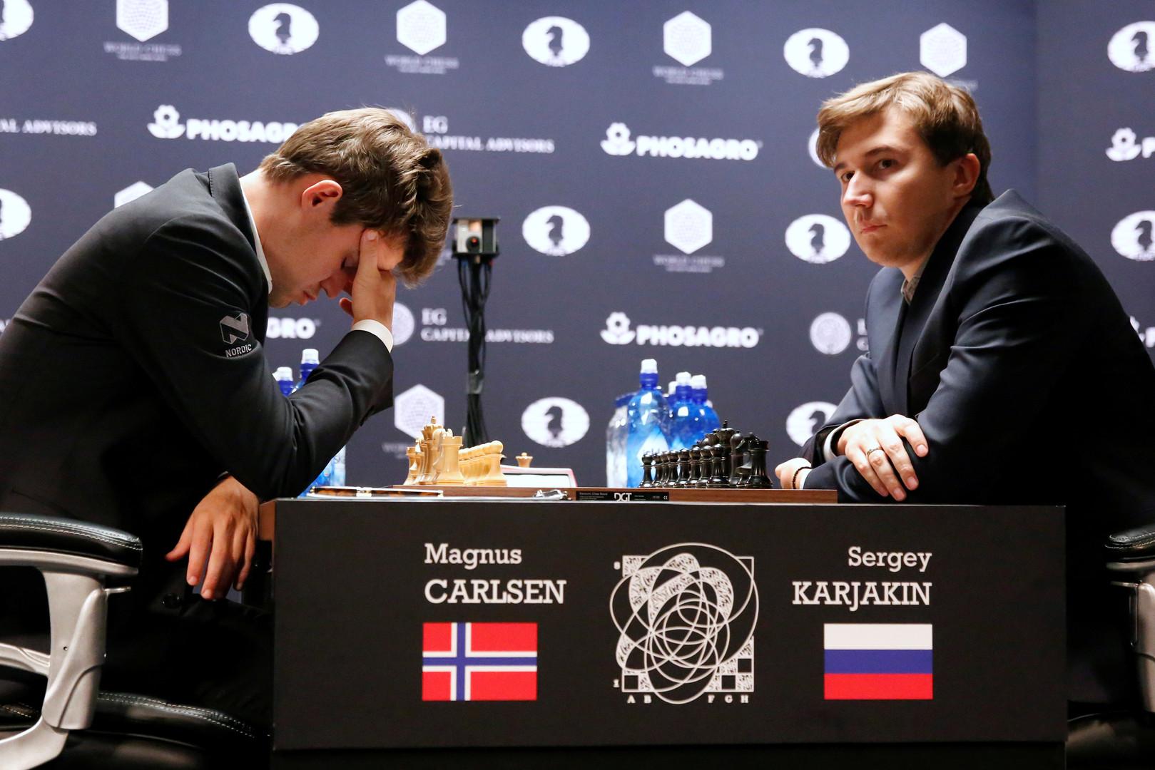 Штиль на экваторе: Карякин и Карлсен расписали ничью в самой скоротечной партии
