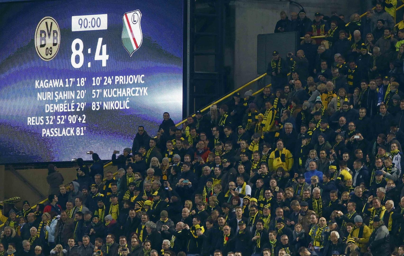 Дюжинный характер: «Боруссия» и «Легия» побили рекорд результативности Лиги чемпионов