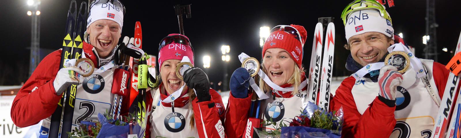 0,3 секунды до бронзы: сборная России осталась без медалей в смешанной эстафете