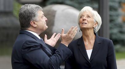 Пётр Порошенко и глава МВФ Кристин Лагард