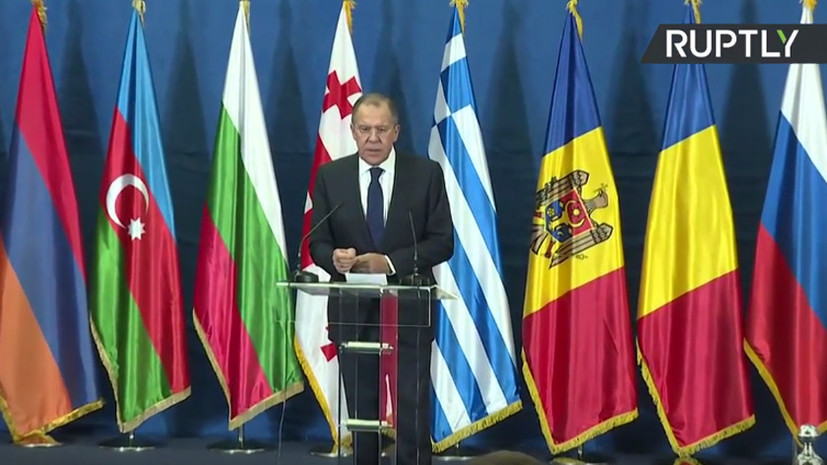 Пресс-конференция представителей МИД России, Сербии и Турции после заседания ОЧЭС — LIVE