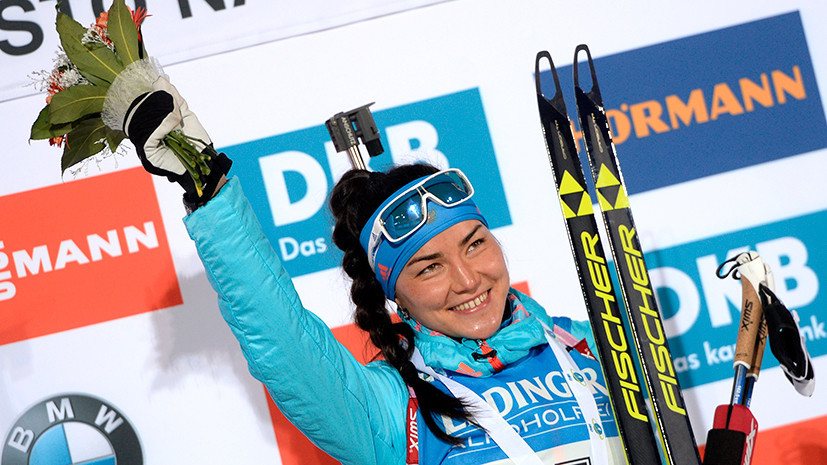 Россия выстрелила: Акимова завоевала золото в спринте на этапе Кубка мира по биатлону