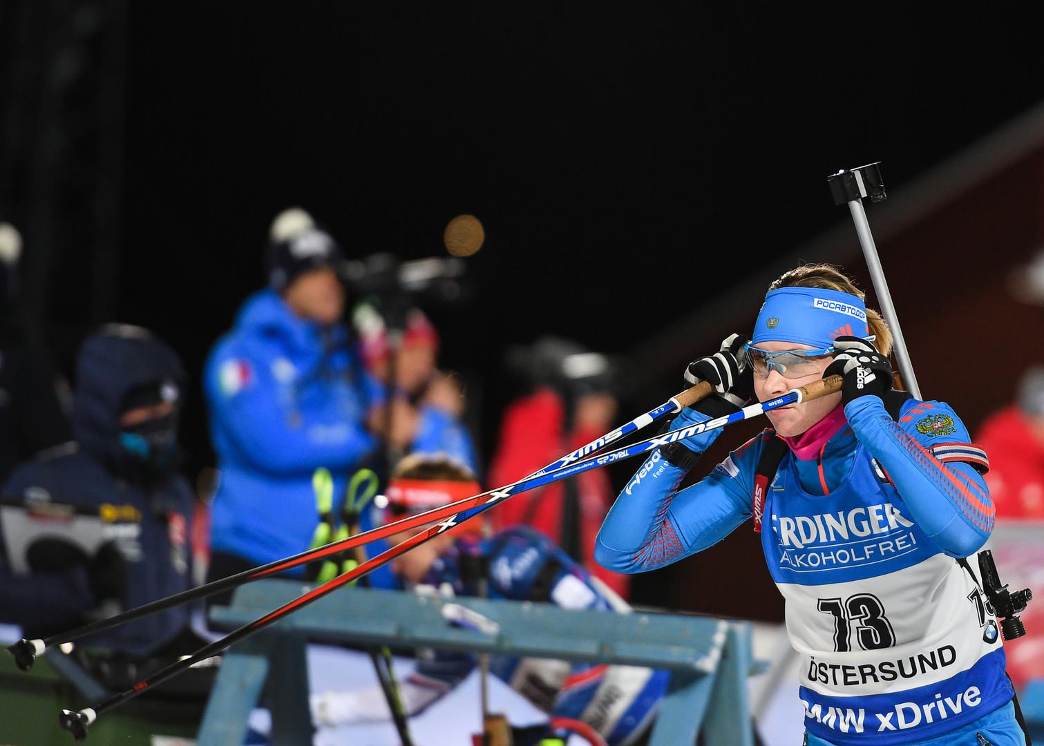 От 30 до 63: россиянки провалили биатлонный спринт в Эстерсунде