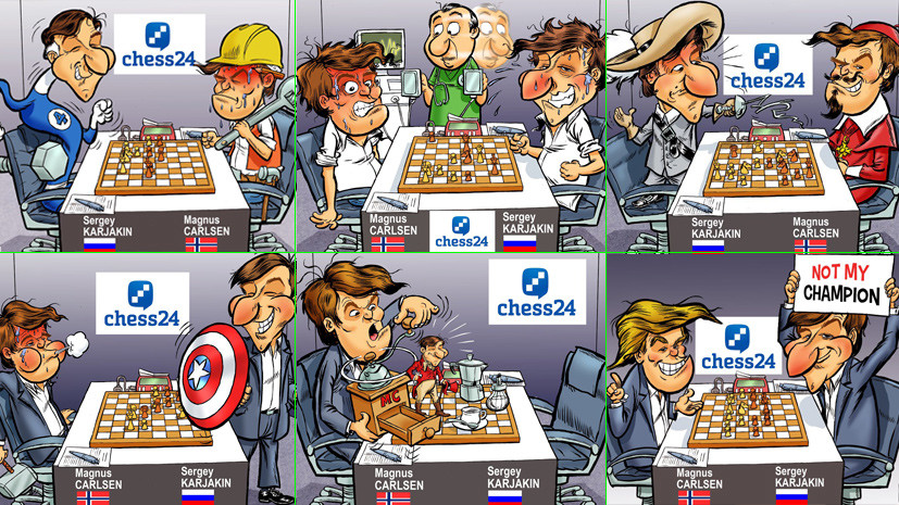 Д'Артаньян, Халк, Капитан Америка и Тор: каким увидел матч Карякин — Карлсен художник