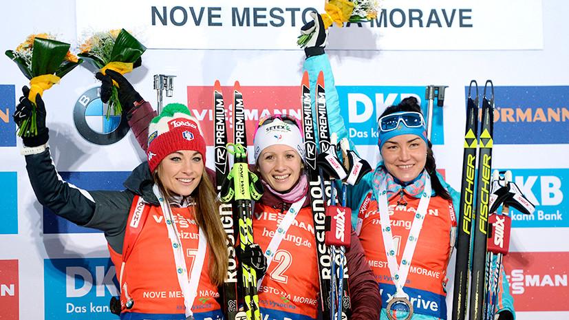 Защита на бронзу: Акимова финишировала третьей на этапе КМ по биатлону