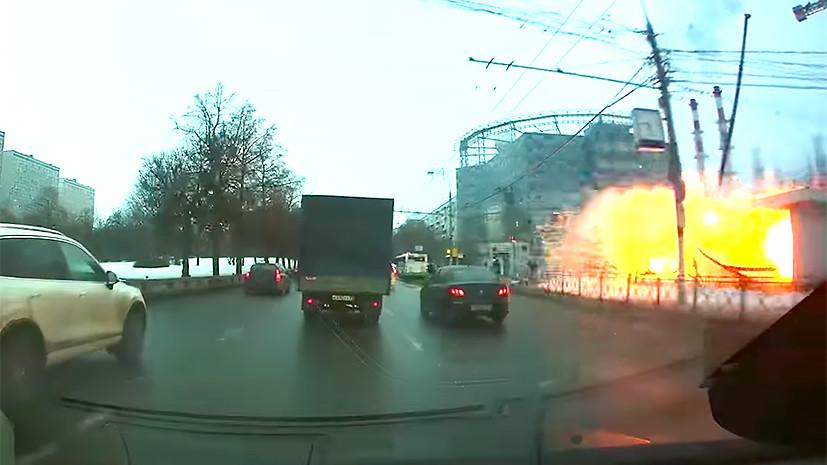 Момент взрыва у метро «Коломенская» попал на видео