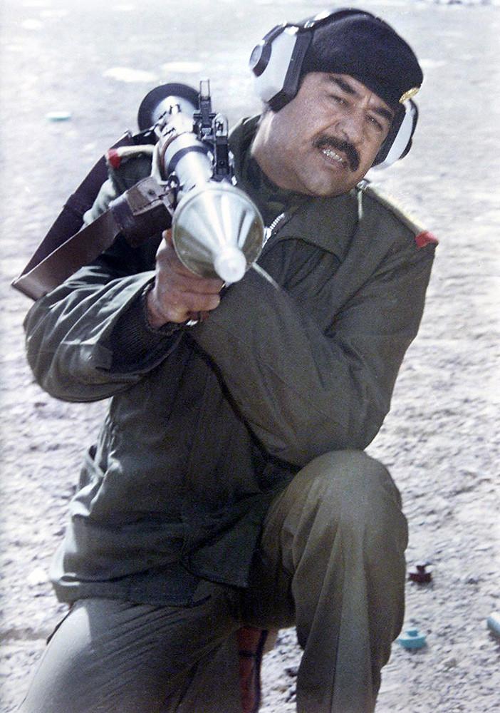 Хусейн во время ирано-иракской войны в 80-х