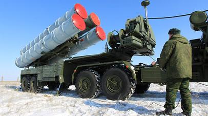Пусковая установка зенитных ракет комплекса С-400 «Триумф».