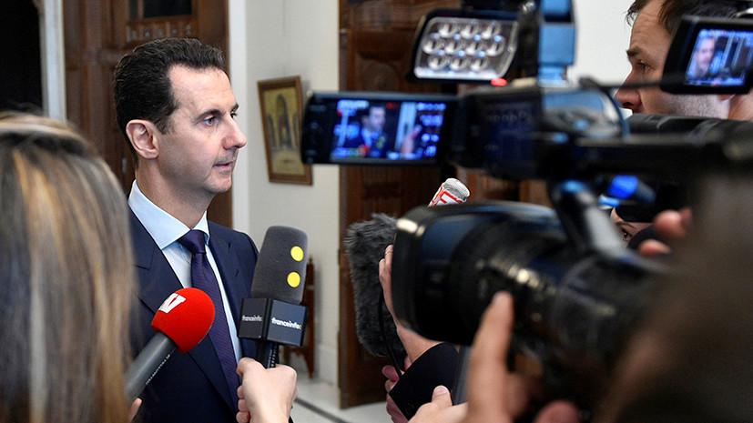 Асад о возможности референдума по Конституции в Сирии