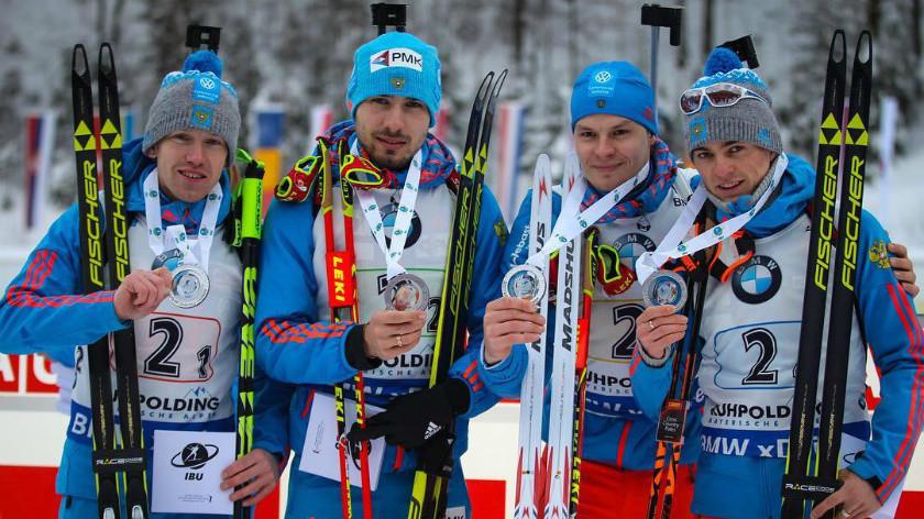 «Сборная России должна гордиться серебром»: биатлонисты и тренеры о мужской эстафете
