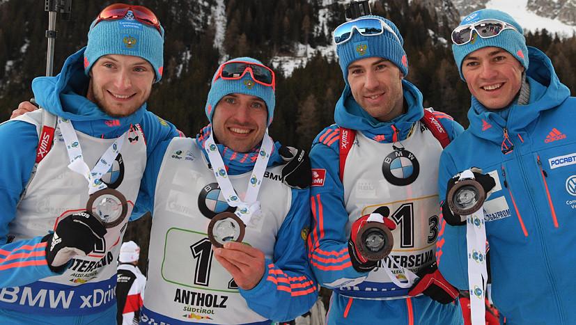 «Теперь у нас есть другой Антон»: российские биатлонисты о бронзе в эстафете на этапе КМ