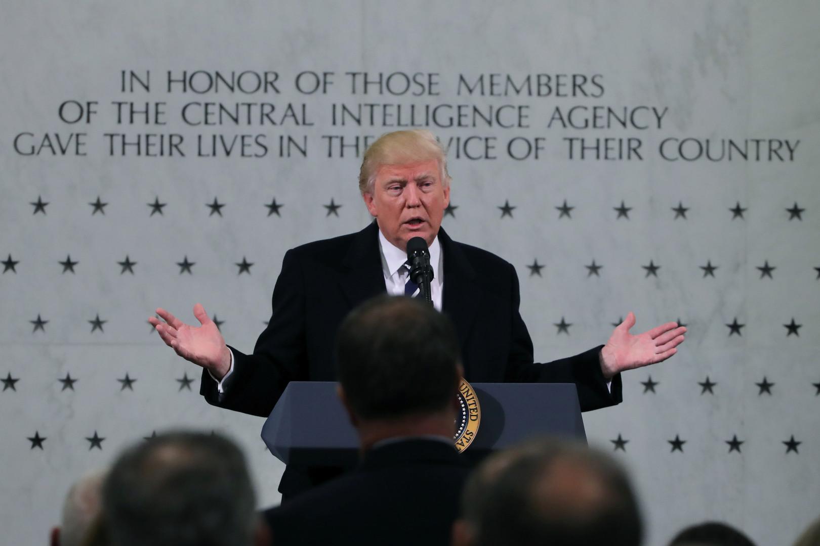 «Фантастические люди, я вас люблю»: Трамп выступил с речью в штабе ЦРУ