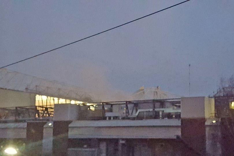 Настадионе «Олд Траффорд» вспыхнул пожар