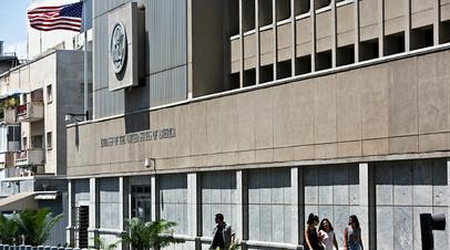 Здание американского посольства в Тель-Авиве