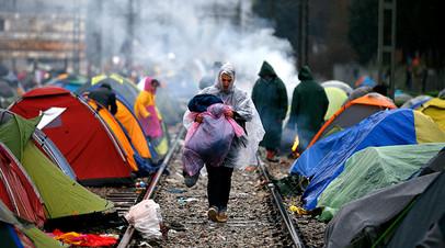 Лагерь мигрантов в Греции