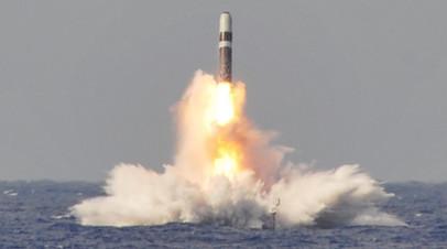 Испытание ракеты Trident