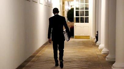Барак Обама в резиденции Белого дома в Вашингтоне