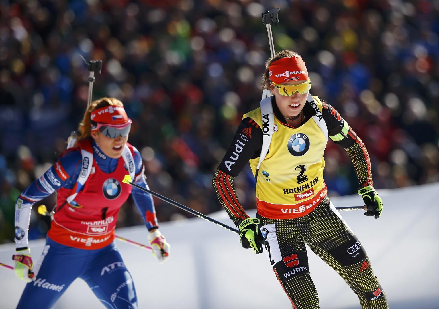 Пятикратная Дальмайер: немка выиграла очередное золото ЧМ по биатлону в Хохфильцене