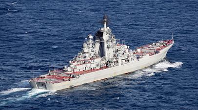 Российский атомный ракетный крейсер
