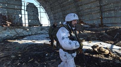 Украинские военные вблизи города Авдеевка