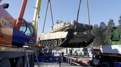 Уже прибывшие в Латвию американские танки