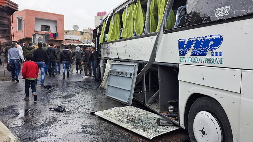 30 человек погибли в результате теракта в Дамаске