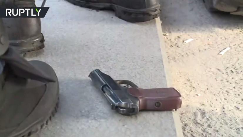 Полиция изъяла пистолет у одного из участников несанкционированной акции в Москве