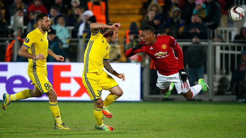 Не тихий Дон: «Ростов» сыграл вничью с «Манчестер Юнайтед» в 1/8 финала Лиги Европы