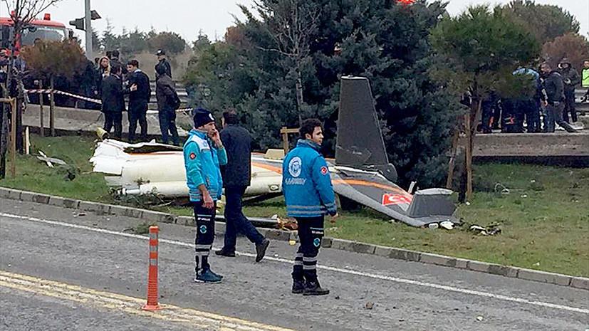Четверо россиян погибли при крушении вертолёта в Стамбуле