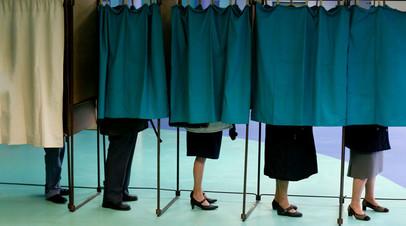 Избирательный участок в Париже