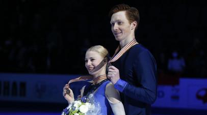 Российские фигуристы Евгения Тарасова и Владимир Морозов стали бронзовыми призёрами чемпионата мира по фигурному катанию