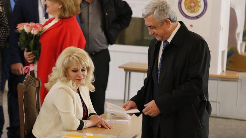 на выборах в Армении лидирует правящая партия