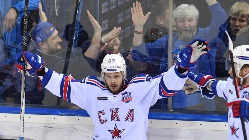 Девять шайб, два матч-штрафа и порванная сетка: СКА начал финал Кубка Гагарина с победы