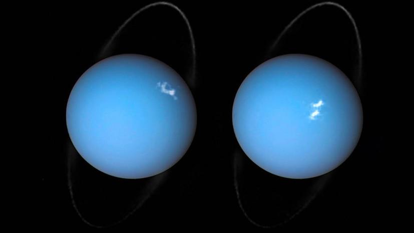 Космическое представление: телескоп «Хаббл» снял полярное сияние на Уране