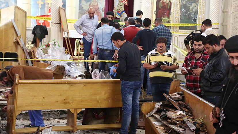 В Египте произошла серия терактов в коптских храмах