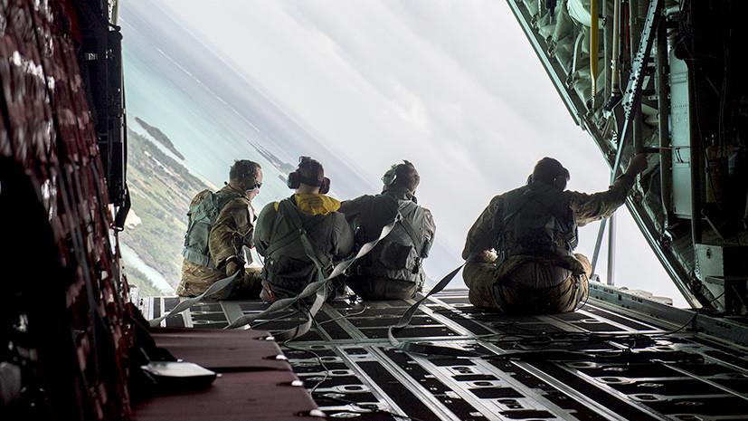 Как с неба свалились: десантники США провели учения на Окинаве вопреки протестам жителей