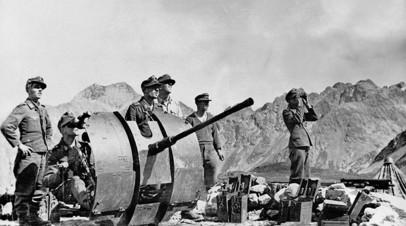 Немецкие солдаты с зенитной пушкой на Кавказе, 1942 год