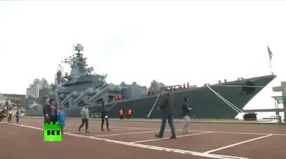 Крейсер «Варяг» прибыл в южнокорейский порт Пусан