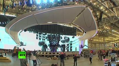 В Киеве идет подготовка главной сцены Евровидения